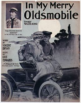 automobiles/sheet music cover 1905 american sheet music