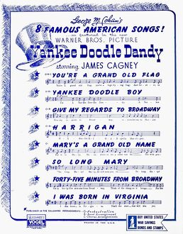 SHEET MUSIC COVER, 1942. Reverse of an American sheet music cover, 1942, for the