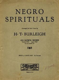 african american history/sheet music spiritual sheet music cover african