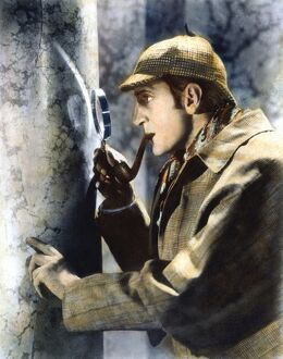 SHERLOCK HOLMES. Basil Rathbone (1892-1967), English actor, in the role of 'Sherlock