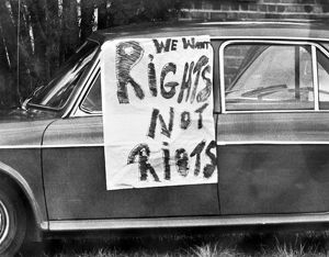 Sign on a car in Cape Town during riots that followed the Soweto uprising against