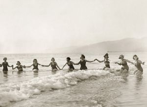 SILENT FILM STILL: BATHERS.