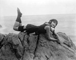 SILENT FILM STILL: BEACHES.