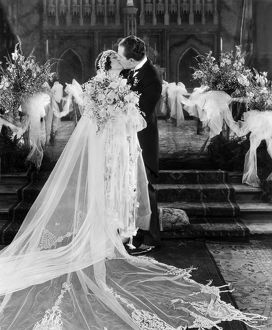 SILENT FILM STILL: WEDDING. Wedding scene with Norma Talmadge and Eugene O'Brien.