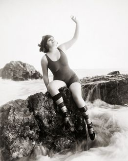 SILENT STILL: BATHER. Vera Reynolds, photographed c1915.