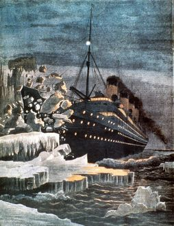 SINKING OF THE TITANIC. April 14-15, 1912: contemporary illustration.