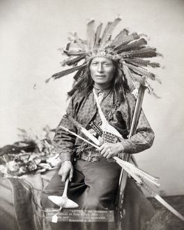 SIOUX LEADER, 1891. Little, the Oglala Sioux leader cited as an instigator of the