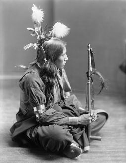SIOUX NATIVE AMERICAN, c1900. William Frog, Sioux Native American, probably