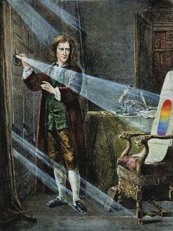 SIR ISAAC NEWTON (1642-1727). English physicist and mathematician