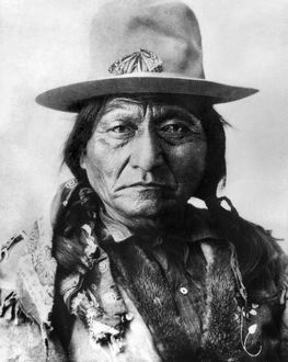 SITTING BULL (1834-1890). Sioux Native American leader.