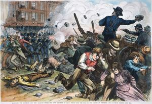 The Sixth Maryland militia firing into a hostile crowd and killing 12 in Baltimore