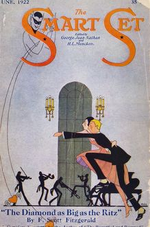 SMART SET MAGAZINE COVER. A 1922 cover of George Jean Nathan and H