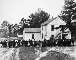 SNOW HILL INSTITUTE, 1902. Students at Snow Hill Institute, a 'little Tuskegee