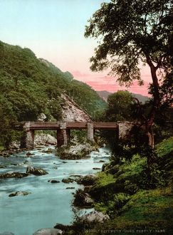 SNOWDONIA NATIONAL PARK. View of Pont-y-Pair, Fairy Glen, Betws-y-Coed (Prayer house