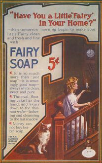 SOAP AD, 20th CENTURY. 'Have You a Little 'Fairy' in Your Home?&quot