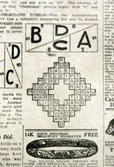 Solution to the first crossword puzzle, from the 'fun' supplement of the