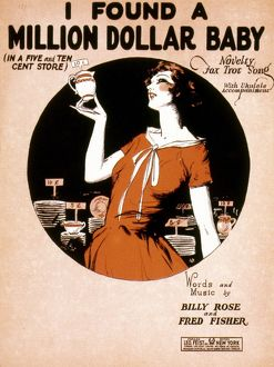 SONG SHEET COVER, 1926. 'I Found a Million Dollar Baby' Foxtrot: American