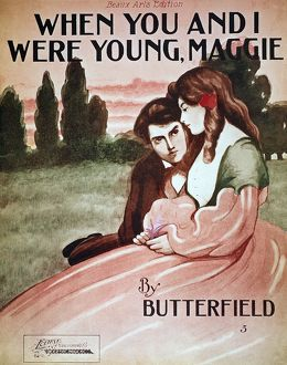 SONG SHEET COVER, c1895. 'When You and I Were Young, Maggie': American sheet music cover