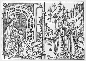 old testament/song songs c1470 the sleeping bride woodcut