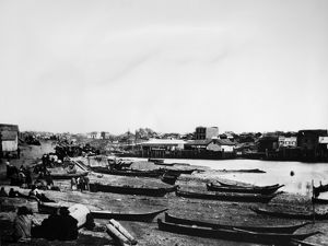 SONGHEES VILLAGE, 1882. A view of a Songhees village on Victoria Harbour, on Vancouver