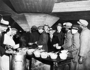 SOUP KITCHEN, 1931. A New York City soup kitchen during the Great Depression, 1931.