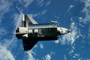 SPACE SHUTTLE CHALLENGER. Photographed in orbit.