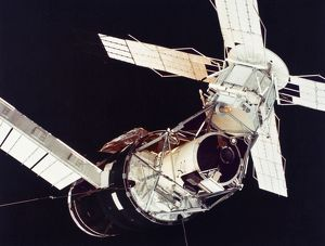 SPACE: SKYLAB 3, 1973. The Skylab 3 space station photographed in orbit, 1973.