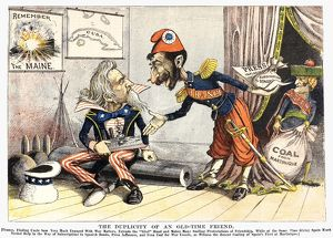 SPANISH-AMERICAN WAR, 1898. American newspaper cartoon of June 1898 about the French