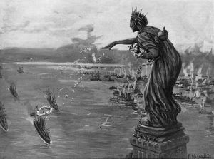 american history/spanish american war 1898 statue liberty greeting