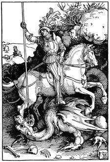 religion/st george dragon woodcut 1504 albrecht durer