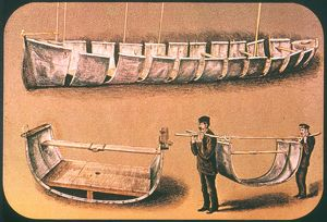 STANLEY'S PORTABLE BOAT. 'Lady Alice,' Sir H