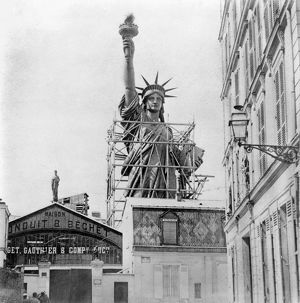 THE STATUE OF LIBERTY. Under construction in Paris c1884.