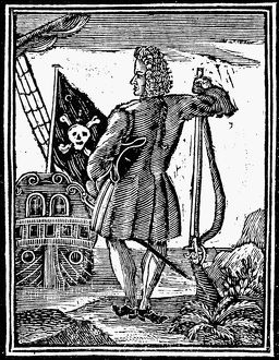 STEDE BONNET (c1688-1718). English pirate. English woodcut, 1725