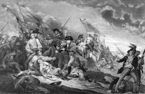Steel engraving by James Mitan, 1801, after the painting by John Trumbull