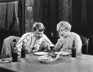 STELLA DALLAS, 1925. Belle Bennett and Jean Hersholt in a scene from the film.