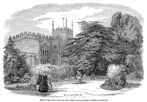 STRATFORD-ON-AVON, 1847. The Guild Chapel Shakespeare's Garden, at Stratford-on-Avon
