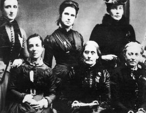 SUFFRAGETTES, 1888. Some of the members of the Executive Committee of the First International
