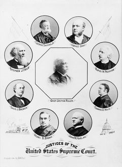 SUPREME COURT, 1896. Portraits of the U