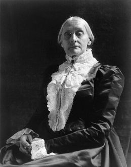 SUSAN B. ANTHONY (1820-1906). American woman's suffrage advocate