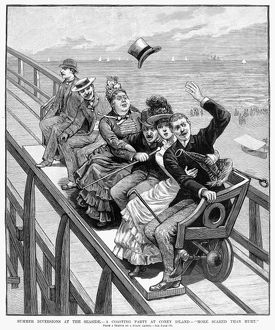 SWITCHBACK RAILWAY, 1886. The first roller coaster in the United States, located in Coney Island
