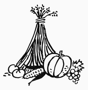 SYMBOL: THANKSGIVING. Harvest, symbol of autumn and Thanksgiving