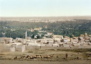 SYRIA: DAMASCUS, c1895. View of Damascus, from Salhieh, Syria. In the foreground