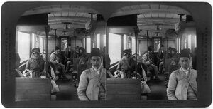 SYRIA: TRAIN, c1908. 'Third class carriage, Sultan's Railway, Syria
