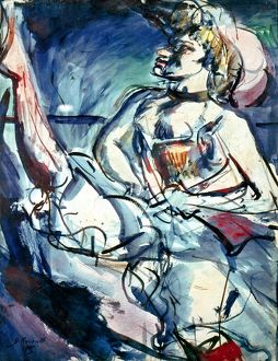 'Tabarin.' Dancer at the Tabarin nightclub in Montmartre, Paris. Oil on canvas