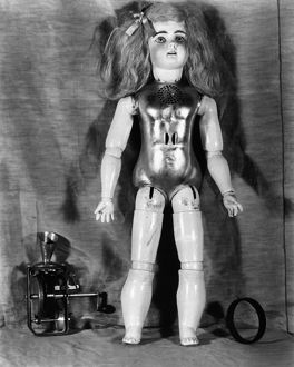 Talking doll invented by Thomas Edison, c1890.