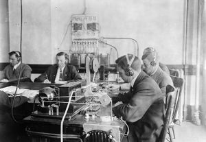 TELEGRAPH OPERATORS, c1912. Students practicing at the Marconi Wireless Telegraph