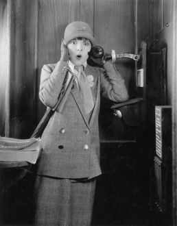 silent film stills/telephone booth 1920s colleen moore 1920s silent