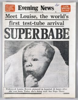disease healthcare/test tube baby 1978 page london england evening