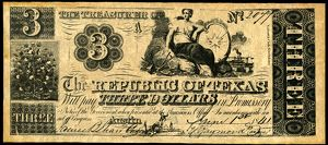 finance commerce/texas banknote 1841 note dollars issued treasury