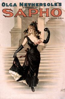 THEATRE: SAPHO, 1900. Poster advertising Olga Nethersole's role in 'Sapho&#39
